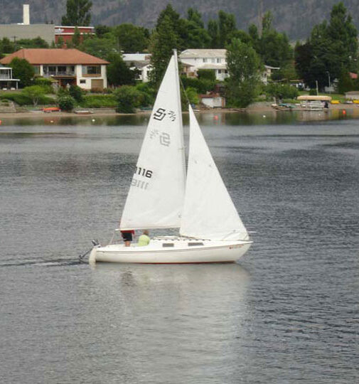 Sailboat on the Lake in Osoyoos