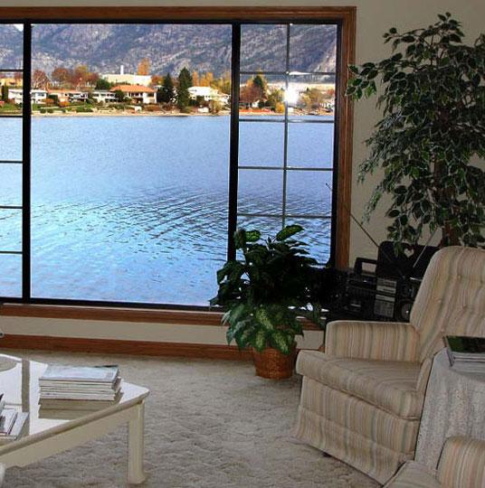 Lakeview Through Window